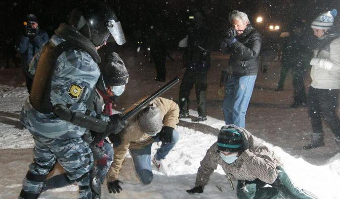 3000 Festnahmen bei Unruhen in Russland (Foto)