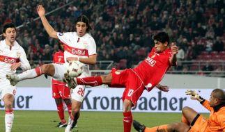 3:0 gegen Lüttich: Stuttgart in der K.o.-Runde (Foto)