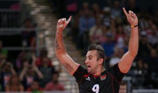3:1 gegen Ukraine: Volleyballer kurz vor EM-Teilnahme (Foto)