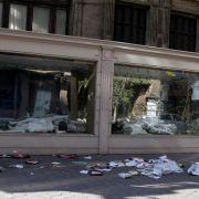 Geplündertes Geschäft im Zentrum von Kairo.