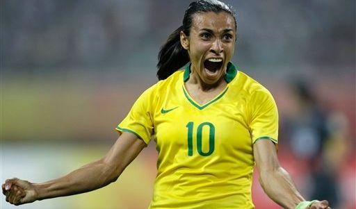 Marta Vieira da Silva wurde Weltfußballerin 2006 und 2007.