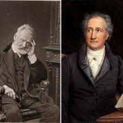 Victor Hugo gegen Johann Wolfgang von Goethe: Der Dichter ist eine Welt, eingeschlossen in einen Menschen sagt Hugo. Und Gothe erwidert: Sobald der Geist auf ein Ziel gerichtet ist, kommt ihm vieles entgegen. Da leuchtet beides