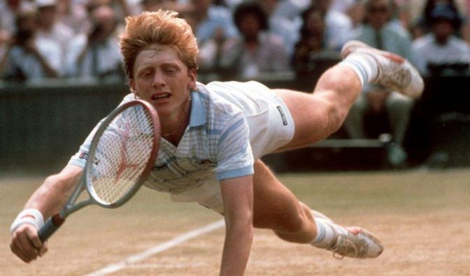 Boris Becker fliegt (Foto)