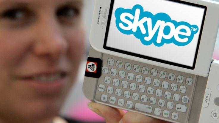 Skype ermöglicht billigeres Telefonieren auch auf dem Handy. (Foto)