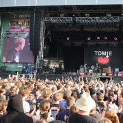 Sehr willkommen:Tomte wurden beim Highfield-Festival gefeiert.