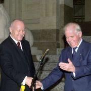 Kurt Biedenkopf und Georg Milbradt, beide CDU