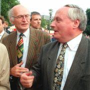 Lafontaine und Schröder mit OB Schmalstieg.