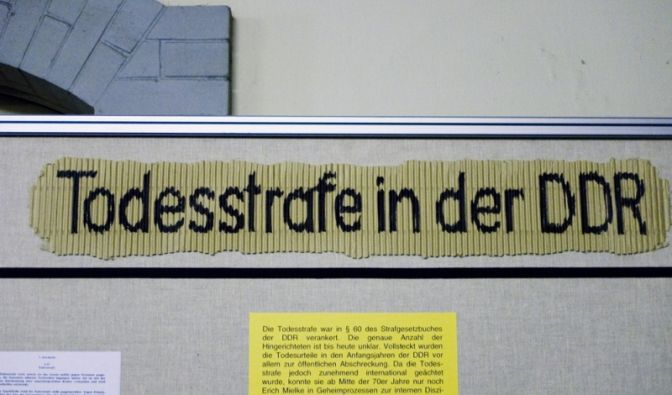 Todesstrafe in der DDR (Foto)