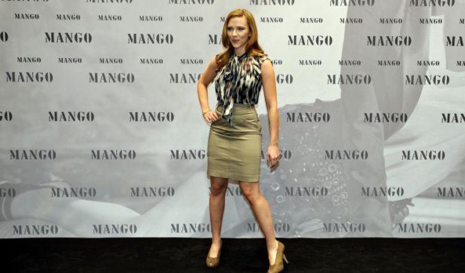 Scarlett Johansson für Modefirma Mango in München (Foto)