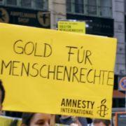 Amnesty-Hochschulgruppen demonstrierten 2008 gegen Menschenrechtsverletzungen in China.