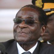 Robert Mugabe (Zuna-Partei), der Präsident von Simbabwe.