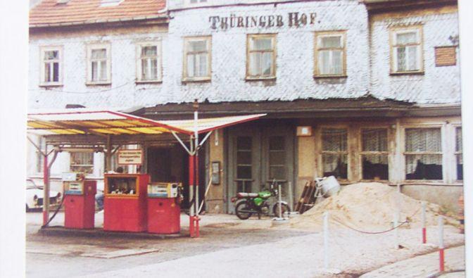 Minol Tankstelle, Gotha 1989 (Foto)