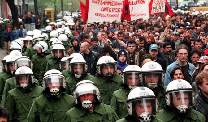 Maidemonstrationen in Berlin (Foto)