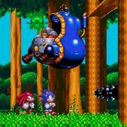 Gemeinsam statt einsam: Sonic und sein rotes Pendant Knuckles versuchen, die Pläne des fiesen Dr. Eggman zu durchkreuzen.