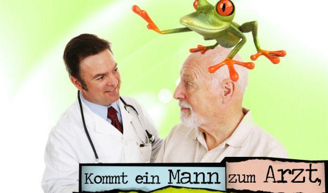Sagt der Arzt: Was haben Sie denn da gemacht? Sagt der Frosch: Ich bin nur auf einen Sprung mit rauf gekommen.
