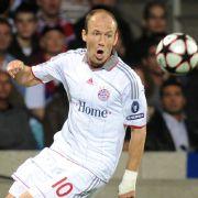 Arjen Robben, hier im  Stade Gerland von Lyon ist eigentlich ein falscher Zehner.