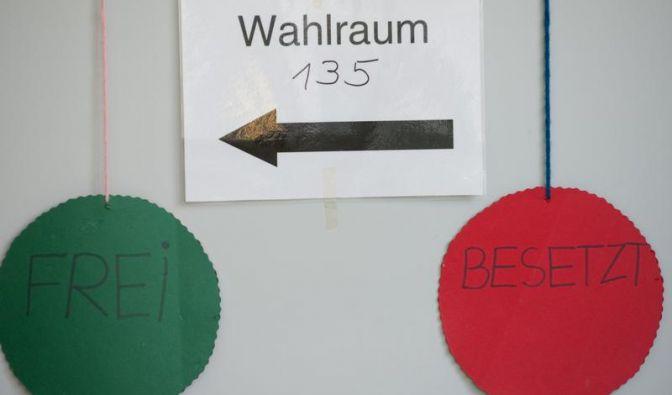 Ein Wahllokal in Mülheim an der Ruhr, wo die SPD-Spitzenkandidatin Hannelore Kraft ihre Stimme abgab.