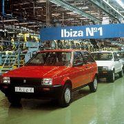 Die erste Generation des Seat Ibiza.