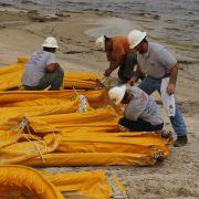 Auch als am 5. Mai das erste Öl die US-Küste erreichte