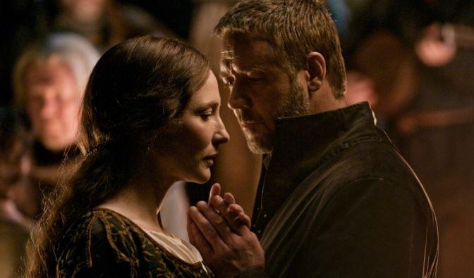 Russell Crowe und Cate Blanchett im Film Robin Hood.