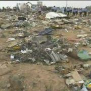 Das Flugzeug der libyschen Fluggesellschaft Afriqiyah Airways ist völlig zerstört.