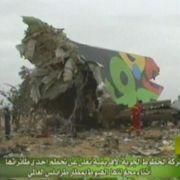 Der Rumpf der zerstörten Maschine vom Typ Airbus A330. Wie es zu dem Unglück kam, ist noch unklar.