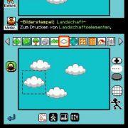 Ähnlich wie das Programm Paint für den PC bietet der Editor diverse Funktionen, mit den sich Kulissen leichter erstellen lassen als mit Hand und Stylus.