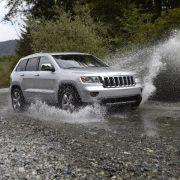 Drei Allradsystemen bietet Jeep an. Quadra-Trac II und Quadra-Drive II lassen jeweils fünf Geländeeinstellungen zu: Auto, Sand, Sport, Schnee und Felsen.