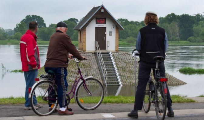 Der Oderpegel im brandenburgischen Ratzdorf ist in den vergangenen fünf Tagen um 50 Zentimeter gestiegen.