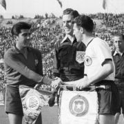 Kapitän bei den WM's 1958 und 1962: Hans Schäfer.
