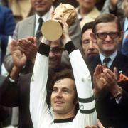 Kapitän bei der WM 1974: Franz Beckenbauer.