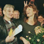 Joschka Fischer und Gunda Röstel (Die Grüne)