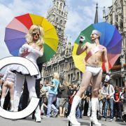 C wie Christopher Street Day: Jeden Sommer eine Art schwullesbische Folklore in deutschen Städten. Das Anliegen für mehr Respekt in einer Gesellschaft mit verschiedenen Lebensweisen bleibt immer aktuell.