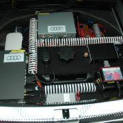 In Zukunft soll sie aber extrem schrumpfen und im Fuß der GPS-Antenne des Navigationssystems Platz finden. Wann das serienreif sein könnte, verrät Audi nicht.