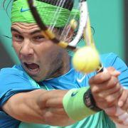 Mit seiner kraftvollen Rückhand punktete Nadal ein ums andere Mal.