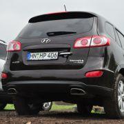 Der Hyundai Santa Fe hat da das Nachsehen: Er verbrauchte in unserem Test gut zehn Liter Diesel.
