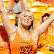 Oranje ist auch bei dieser WM Trumpf auf der Tribüne.
