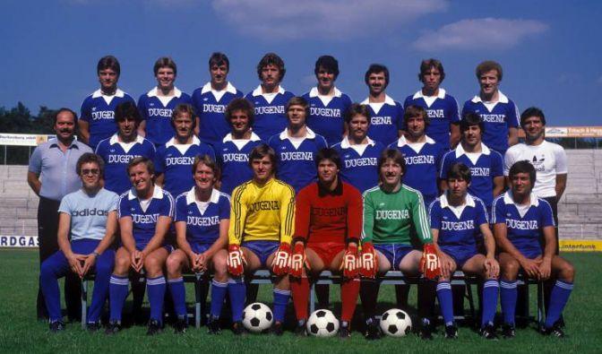 Noch im selben Jahr seiner DDR-Flucht übernahm Jörg Berger (Mitte, ganz rechts) das Amt des Co-Trainers beim damaligen Zweitligisten SV Darmstadt 98. Sein erster Chef im Westen war Klaus Schlappner (Mitte, ganz links).