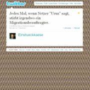 Tweet von @Einstueckkaese.