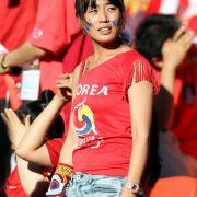 Alles gegeben, trotzdem traurig: dieser weibliche Fan aus Südkorea.