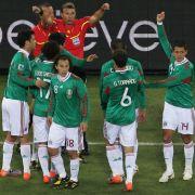 Die mexikanischen Spieler protestierten lautstark.