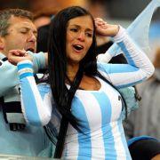 Schon mal auf den nächsten Gegner der Deutschen schauen: Argentinischer Fan.