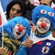 Zum ersten Mal stand Japan in einem WM-Achtelfinale. Die Begeisterung der Fans war vor dem Spiel riesengroß.