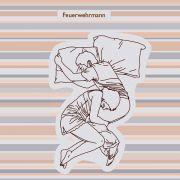 Diese komplizierte Schlafstellung namens Feuerwehrmann ist nichts für Hasenfüße.