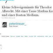 @peterbreuer_  und seine billige Trauer.