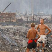 Ganze Dörfer haben die Flammen in Schutt und Asche verwandelt.