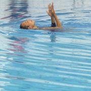 Paul Palomares aus den USA überzeugt durch seinen grazilen Ausdruck und den enganliegenden Schwimmdress.