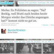 @BunterKneten  reflektiert derweil sein Auftreten in der Öffentlichkeit.