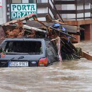 In Polen wurde die Stadt Bogatynia an der Grenze zu Sachsen fast vollständig überflutet.