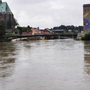 Die Neiße hat sich in Görlitz wieder in ihr Bett zurückgezogen.